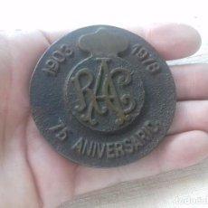 Trofeos y medallas: MONEDA BRONCE.REAL AUTOMÓVIL CLUB. 75 ANIVERSARIO. 1903 - 1978. Lote 95984011