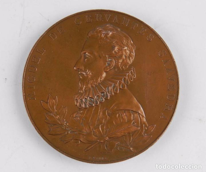 MEDALLA 1905 III CENTENARIO DE LA PUBLICACION DEL QUIJOTE, ANVERSO: MIGUEL DE CERVANTES SAAVEDRA, BU (Numismática - Medallería - Trofeos y Conmemorativas)