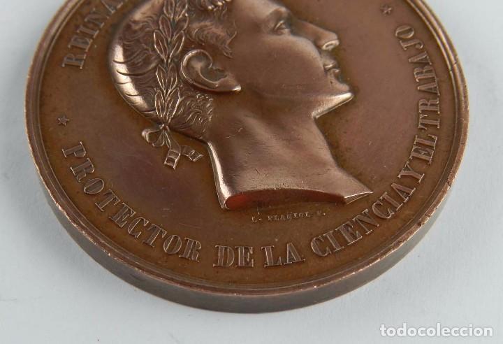 Trofeos y medallas: MEDALLA DE LA EXPOSICION DE GUADALAJARA, PREMIO AL MERITO 1876, REINANDO ALFONSO XII, PROTECTOR DE L - Foto 3 - 96485395