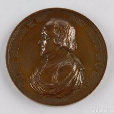 Trofeos y medallas: MEDALLA DEL SEGUNDO CENTENARIO DE DON PEDRO CALDERÓN DE LA BARCA, 1881. GRABADOR J. ESTEBAN LOZANO, . Lote 96490011