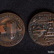 Trofeos y medallas: 2 MEDALLAS PREMIO PLANETA 1969-1970. Lote 96730655