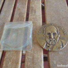 Trofeos y medallas: MEDALLA RAMON Y CAJAL 1852 1934 PREMIO NOVEL DE MEDICINA 1906 ESTRUCTURA SISTEMA NERVIOSO. Lote 97788255