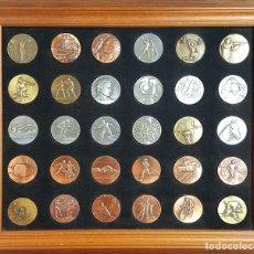 Trofeos y medallas: COMPOSICIÓN DE 30 MEDALLAS. BRONCE Y METAL. TEMÁTICA DEPORTIVA. SIGLO XX. . Lote 97913023