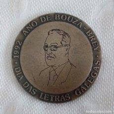 Trofeos y medallas: MEDALLA DIA DAS LETRAS GALEGAS - BOUZA BREY 1992 - AYUNT. CORTEGADA, PONTEAREAS Y VILAGARCÍA.. Lote 98428399