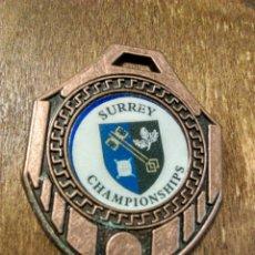 Trofeos y medallas: ANTIGUA MEDALLA SURREY CHAMPIONSHIPS. Lote 98868036