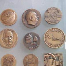 Trofeos y medallas: LOTE DE 6 MEDALLAS CONMEMORATIVAS BRONCE . Lote 99319375