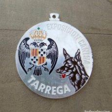 Trofeos y medallas: MEDALLA EXPOSICIÓN CANINA. TARREGA. 6 CM DE DIÁMETRO.. Lote 100036339