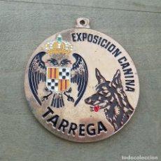 Trofeos y medallas: MEDALLA EXPOSICIÓN CANINA. TARREGA. 6 CM DE DIÁMETRO.. Lote 100036715