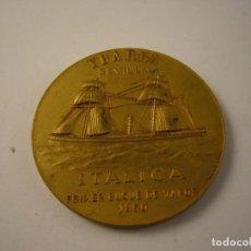 Trofeos y medallas: YBARRA SEVILLA ITALICA PRIMER BUQUE DE VAPOR 1860. Lote 100294427