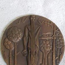 Trofeos y medallas: MEDALLA RÍO JÚCAR. FIRMADO POR FERNANDO SOMOZA. SERIE RÍOS FNMT. AÑO 1963-65. Lote 101238247