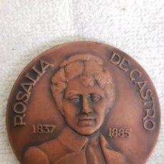 Trofeos y medallas: MEDALLA HOMENAJE ROSALÍA DE CASTRO. CÍRCULO DE LAS ARTES LUGO. AÑO 1969. Lote 101239363