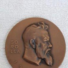 Trofeos y medallas: MEDALLA DE SOROLLA. FIRMADO POR VASSALLO. AÑO 1963. Lote 101240019