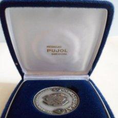 Trofeos y medallas: MEDALLA DE PLATA 925 CONSTRUMAT 1989. BARCELONA. PUJOL. Lote 101357439