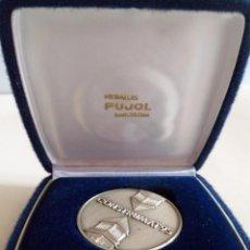 Trofeos y medallas: MEDALLA DE PLATA 925 CONSTRUMAT 1995. BARCELONA. PUJOL. Lote 101359559