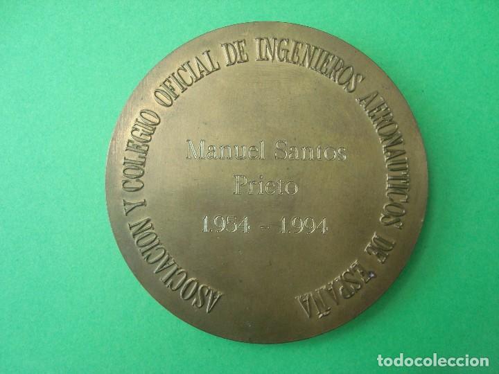Trofeos y medallas: MEDALLA DEL COLEGIO OFICIAL DE INGENIEROS AERONÁUTICOS DE ESPAÑA - Foto 2 - 141143676