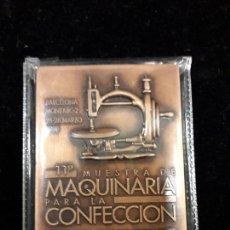 Trofeos y medallas: MEDALLA MUESTRA DE MAQUINARIA PARA LA CONFECCION. Lote 103468103