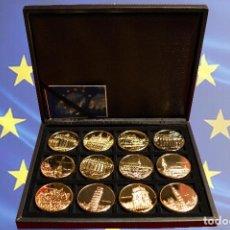 Trofeos y medallas: COLECCIÓN 12 MEDALLAS CEE COMUNIDAD ECONOMICA EUROPEA ESTUCHE MONETARIO. Lote 103825579