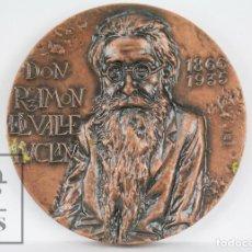 Trofeos y medallas: MEDALLA DE LA FNMT - DON RAMÓN DEL VALLE INCLÁN, 1866-1935. ADMIRABLE, FEO, CATÓLICO Y SENTIMENTAL. Lote 109763603