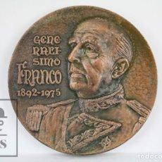 Trofeos y medallas: MEDALLA CONMEMORATIVA DE LA FNMT - GENERALÍSIMO FRANCO, 1892-1975 - JEFE ESTADO ESPAÑOL HASTA 1975. Lote 109764767