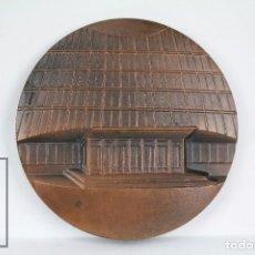 Trofeos y medallas: MEDALLA CONMEMORATIVA - EXPOSICIÓN MUNDIAL DE FILATELIA, 1975 - OSO Y MADROÑO - DIÁMETRO 75 MM. Lote 109766355
