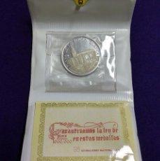 Trofeos y medallas: MEDALLA DE PLATA DE VITORIA (ALAVA). PLAZA DE LA VIRGEN BLANCA.CON SU ESTUCHE ORIGINAL Y CERTIFICADO. Lote 109827599