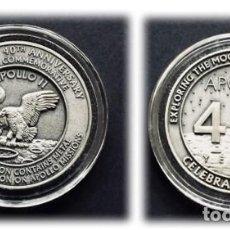 Trofeos y medallas: APOLLO / NASA - MEDALLA CONMEMORATIVA HECHA CON PARTES DE LAS NAVES QUE FUERON A LA LUNA.. Lote 143170657