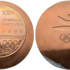 Trofeos y medallas: MEDALLA DE BRONCE PULIDA. COBRE. PESO 250 G. OLIMPIADAS BARCELONA 92 SC - SIN CIRCULAR MUY RARA. Lote 110000979