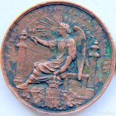 Trofeos y medallas: D403 MEDALLA BARCELONA FOMENTO DEL TRABAJO - EXPOSICION ARTES DECORATIVAS 1884 - BRONCE 41MM/29GR. Lote 110002695
