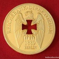 Trofeos y medallas: MONEDA ORO GERMAN 1889 BERLÍN REICHSBANK STOLZ GOLD COIN. Lote 110250427