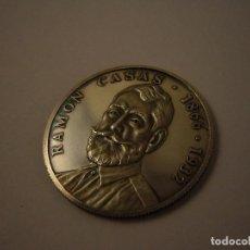 Trofeos y medallas: MEDALLA RAMON CASAS 1866-1932 PLATA LEY 925. Lote 110256003