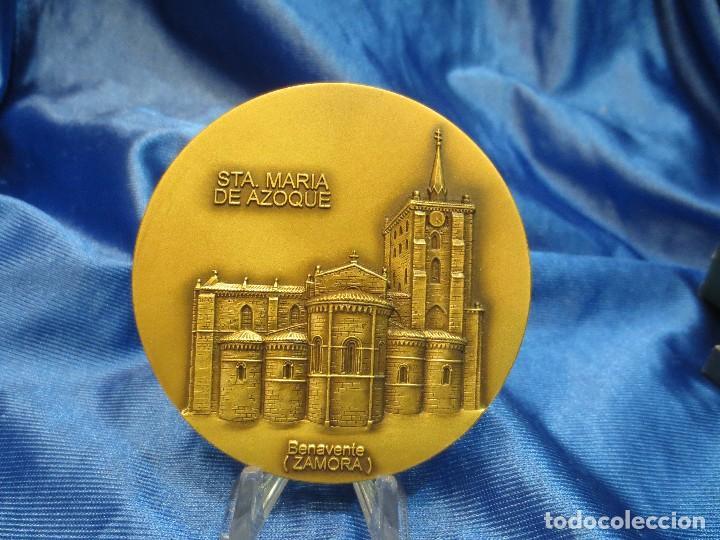 MEDALLA DE BRONCE LOTERIA DEL HUMOR 1994 STA MARIA DE AZOQUE BENAVENTE (Numismática - Medallería - Trofeos y Conmemorativas)