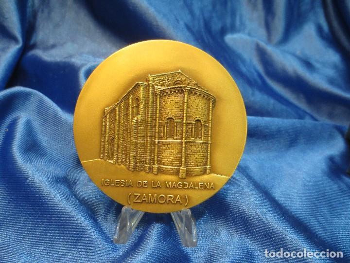 MEDALLA DE BRONCE DE LA LOTERIA DEL HUMOR DE 1995 IGLESIA LA MAGDALENA ZAMORA (Numismática - Medallería - Trofeos y Conmemorativas)