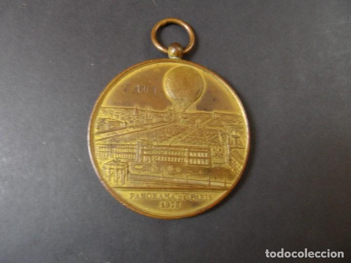 MEDALLA SOUVENIR DE MON ASCENSION DANS LE GRAND BALLON CAPTIF A VAPEUR .EXPOS. UNIVERSAL PARIS 1878 (Numismática - Medallería - Trofeos y Conmemorativas)