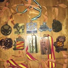 Trofeos y medallas: LOTE 10 MEDALLAS JUEGOS ESCOLARES ARAGON TENIS DE MESA, CAMPEONATO ESPAÑA UNIVERSITARIO.... Lote 111065367