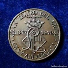 Trofeos y medallas: RARA MEDALLA GRAN TEATRO DEL LICEO 1847 - 1972 CXXV ANIVERSARIO BARCELONA EL LICEO. Lote 111506687