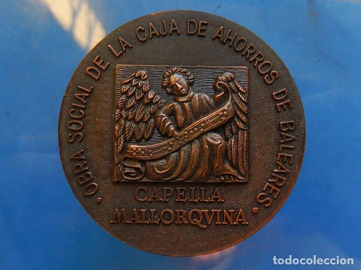 Trofeos y medallas: Medalla. Obra Social de la Caja de Ahorros de Baleares. Capella Mallorquina. Mallorca. - Foto 4 - 111526731