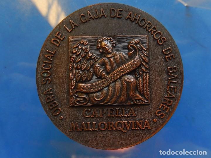 Trofeos y medallas: Medalla. Obra Social de la Caja de Ahorros de Baleares. Capella Mallorquina. Mallorca. - Foto 6 - 111526731