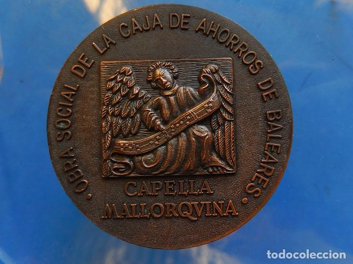 Trofeos y medallas: Medalla. Obra Social de la Caja de Ahorros de Baleares. Capella Mallorquina. Mallorca. - Foto 7 - 111526731