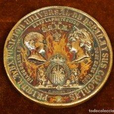 Trofeos y medallas: MEDALLA CONMEMORATIVA PRIMERA EXPO. INDUSTRIAL DE ESPAÑA. PIQUER. BARBA. COBRE. ESPAÑA. 1888. Lote 112338519