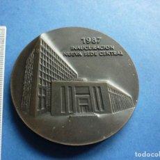 Trofeos y medallas: MEDALLA CAJA DE AHORROS DE CANARIAS - 75 ANIVERSARIO- 1987 INAUGURACIÓN NUEVA SEDE CENTRAL. Lote 112668339