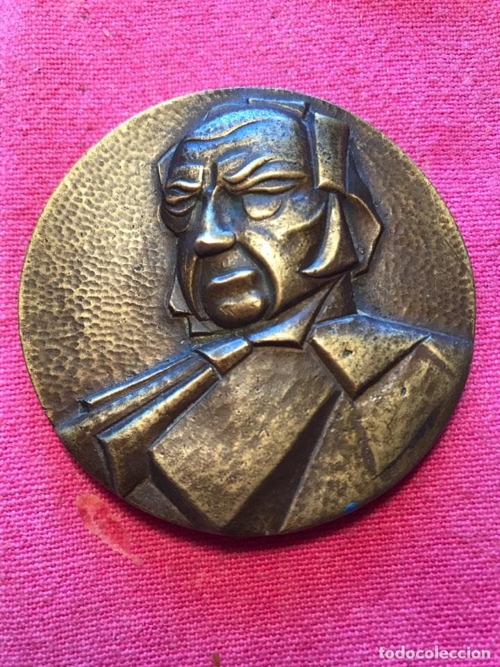 MEDALLA GOYA HOMENAJE ARAGONES A FRANCISCO DE GOYA ARAGON ZARAGOZA BRONCE ANTIGUA (Numismática - Medallería - Trofeos y Conmemorativas)