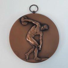 Trofeos y medallas: MEDALLA BRONCE. UNIONE PROVINCIALE GGSS STUDENTESCHI ROMA. BERTONI. MILANO.. Lote 113776919