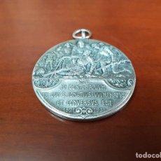 Trofeos y medallas: MEDALLA IV CENTENARIUM EX QUO S. IGNATIUS VULNERATUS ET CONVERSUS EST - 1521 1921 - PLATA - . Lote 114886479