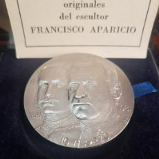 Trofeos y medallas: MEDALLA ALFONSO XIII JUAN CARLOS I 1881 1991 - 10 DE MARZO - ABOGADOS DEL ESTADO - PLATA 900. Lote 115078835