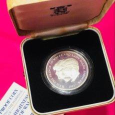 Trofeos y medallas: MONEDA PLATA BODA CARLOS Y DIANA - ELIZABETH II - 1981 PROOF. Lote 115079107