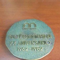 Trofeos y medallas: MEDALLA SOFEMASA INTERNACIONAL XX ANIVERSARIO 1962 1982 - BRONCE. Lote 115081731