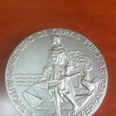 Trofeos y medallas: MEDALLA MINISTERIO DE OBRAS PUBLICAS - AUTOPISTA DEL MEDITERRANEO - 1974 - CAT. PLATA. Lote 115457899