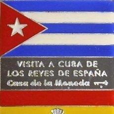 Trofeos y medallas: CUBA MEDALLA PLATA-VISITA A CUBA DE LOS REYES DE ESPAÑA 1999-CASA DE LA MONEDA DE CUBA. Lote 195150040