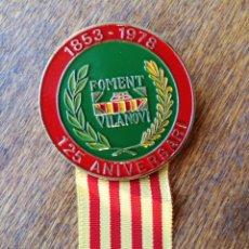 Trofeos y medallas: MEDALLA CONMEMORATIVA 125ºANIVERSARI (1853-1978)- COMPARSES DE VILANOVA I LA GELTRÚ, 1979.. Lote 116200235