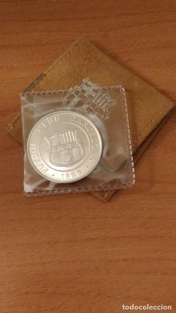 MEDALLA DE PLATA AMPLIACION ESTADI F.C. BARCELONA 1899 - 1982 MONEDA AMPLIACIO BARÇA PROOF (Numismática - Medallería - Trofeos y Conmemorativas)